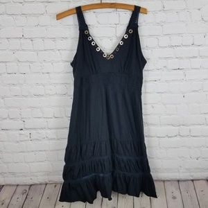 American Rag Crochet Detail Boho Dress Black Large